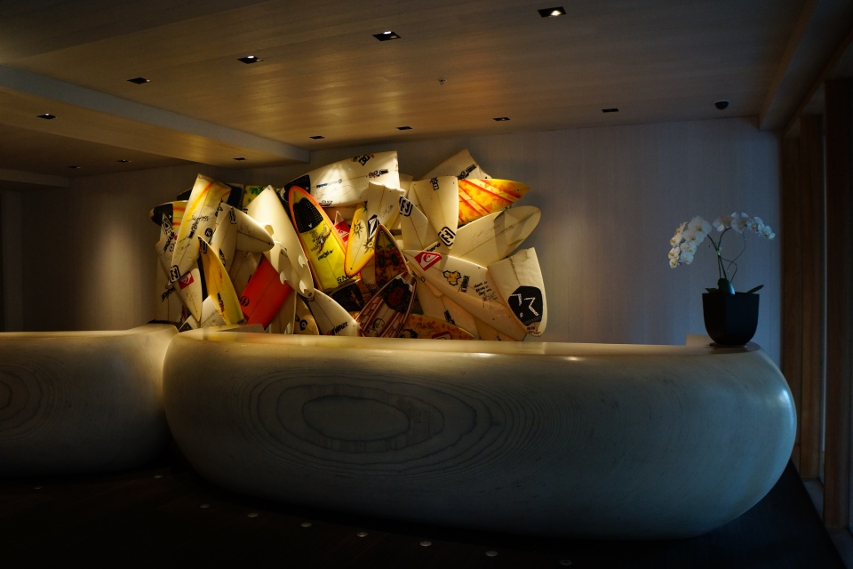 HERBIE FLETCHER'S INSTALLATION OVER RECEPTION