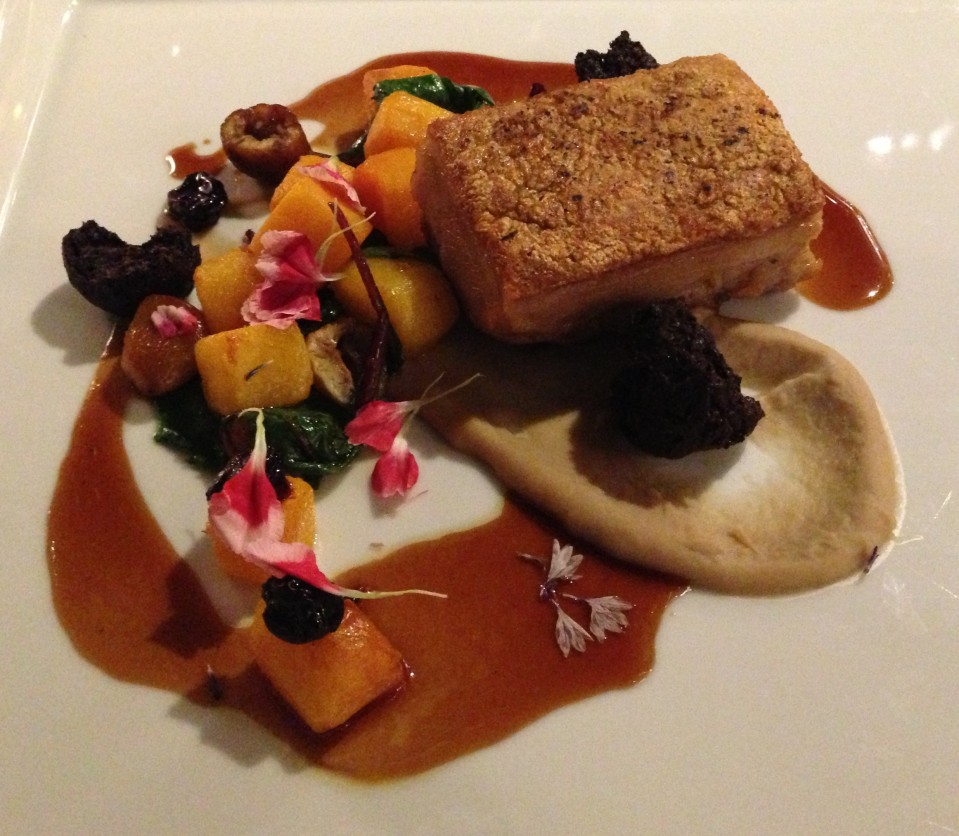 PORK BELLY - CHESTNUT PUREE, CRISPY BLACK PUDDING & PUMPKIN | MOSAIC RESTAURANT | THE WESTIN SYDNEY