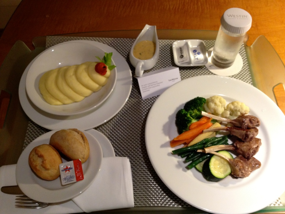 ROOM SERVICE PRESENTATION | LAMB CUTLETS AND POTATO MASH