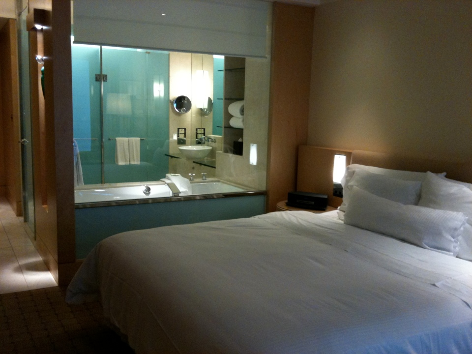 TOWER DELUXE ROOM 915 | LOVE THE AQUA AND MARBLE BATHROOMS