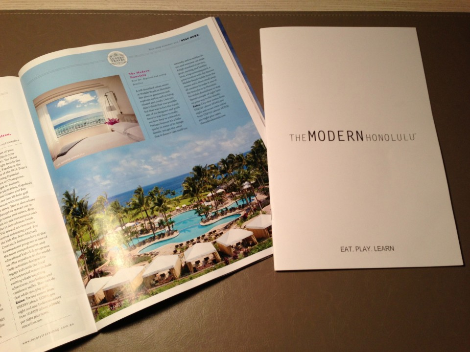 READING LUXURY TRAVEL'S ARTICLE ON THE MODERN