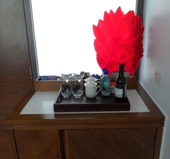 MINI BAR, TEA & COFFEE AND FIJI WATER
