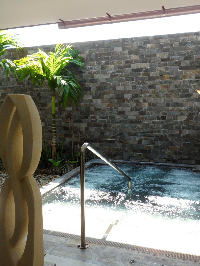 RELAX IN THE HYDRO-THERAPY POOL AT SPA INTERCONTINENTAL