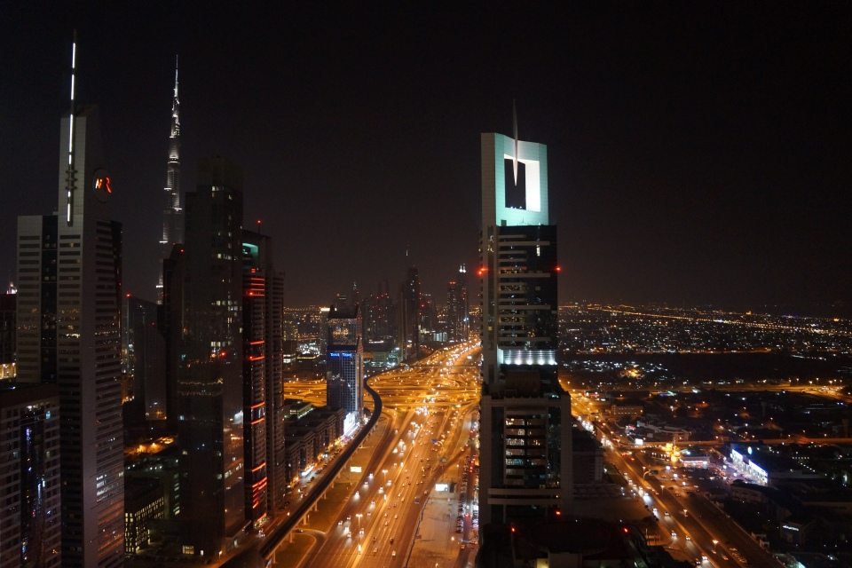 BURJ KHALIFA AND SHEIKH ZAYED ROAD