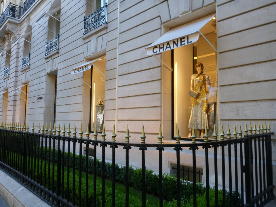 ONE OF THE FASHION HOUSES ON AVENUE MONTAIGNE