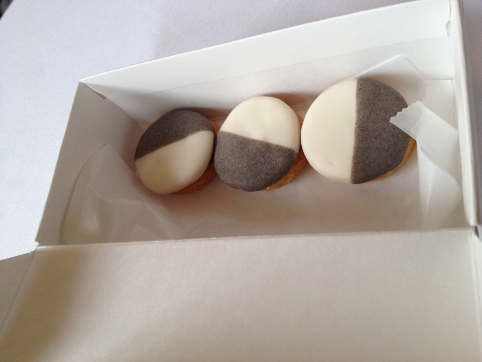 EMP's Parmesan Black and White Cookies