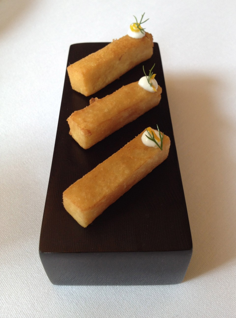 TASTING MENU | 2 - YOGURT AND CHICKPEAS Panisse with Yogurt