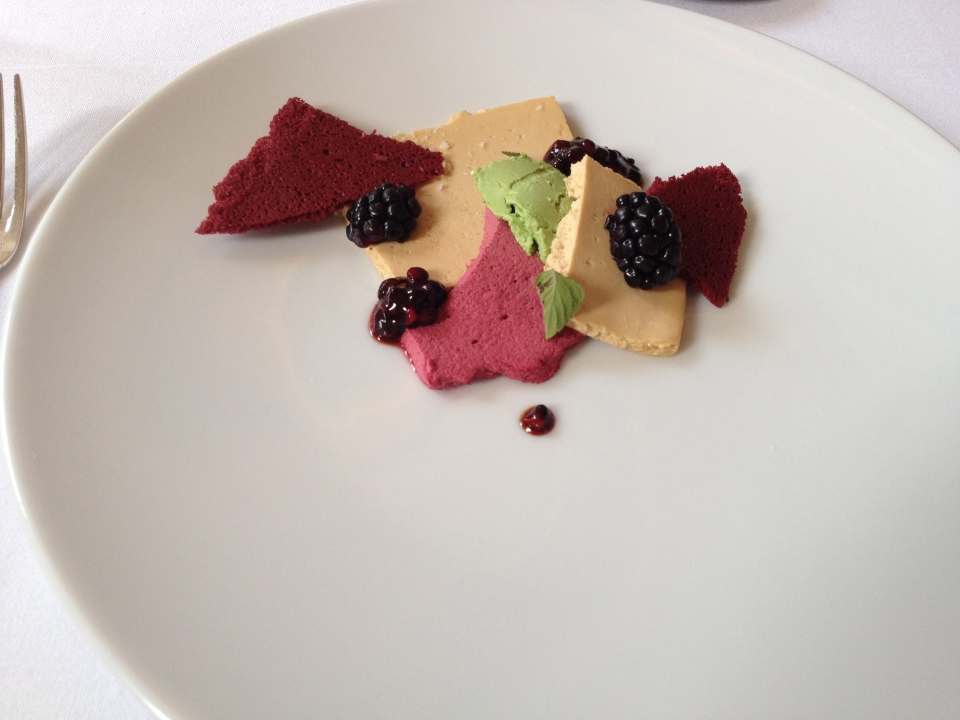 TASTING MENU | 6 - FOIE GRAS Marinated with Nepitella and Blackberry