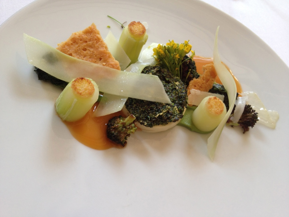 TASTING MENU | 7 - BROCCOLI Roasted with Parmesan, Lemon and Lardo