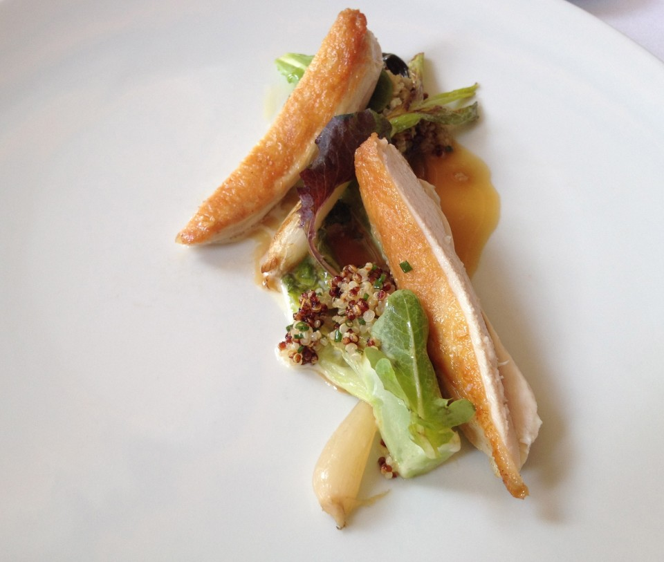 TASTING MENU | 8 - POUSSIN Roasted with Lettuce, Spring Onion and Quinoa