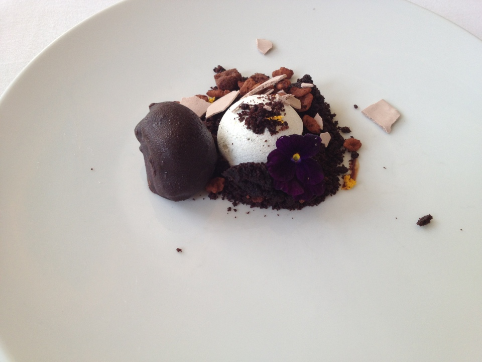 TASTING MENU | 13 - CHOCOLATE Sorbet with Lavender, Orange and Maldon Sea Salt
