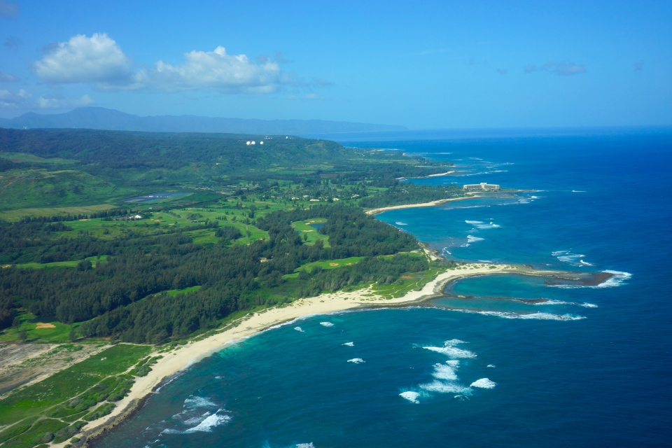 VIEW ALONG THE NORTH SHORE INCLUDING TURTLE BAY RESORT