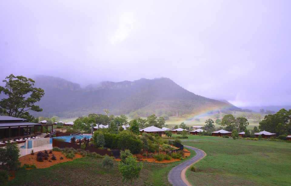 RAINBOW AND MIST | VIEW FROM THE HOMESTEAD