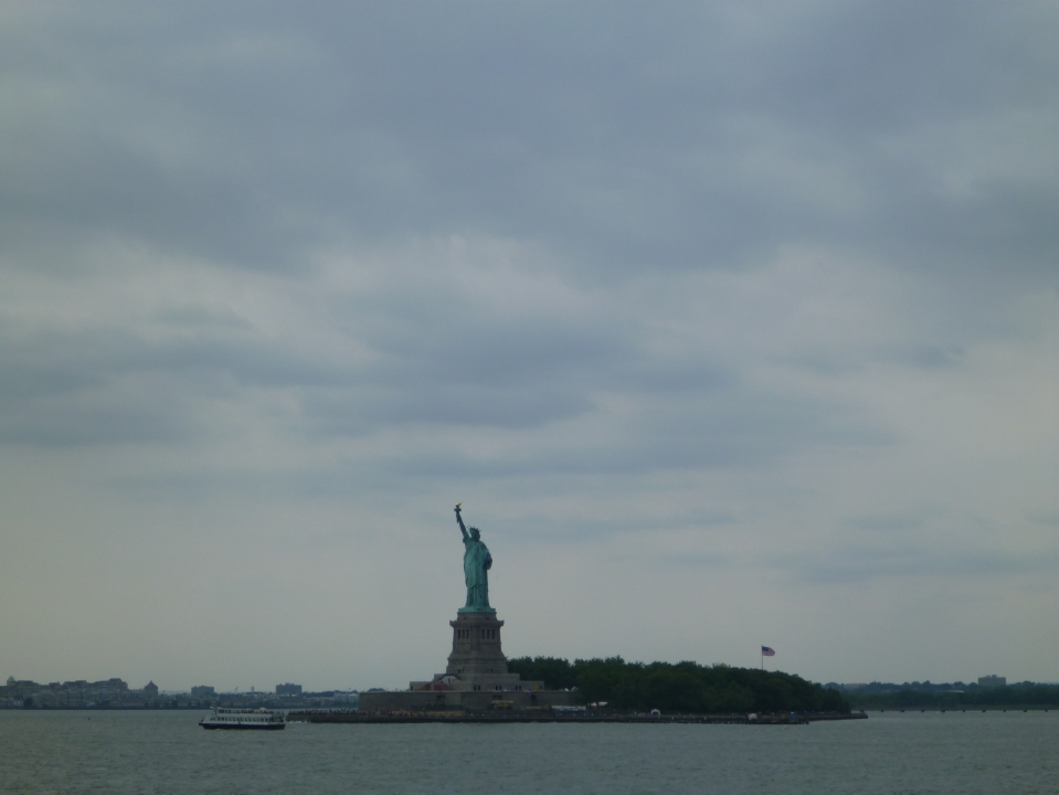 STATUE OF LIBERTY FROM THE STATEN ISLAND FERRY