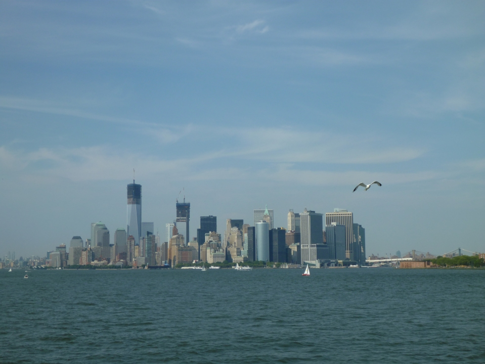 MANHATTAN FROM THE STATEN ISLAND FERRY