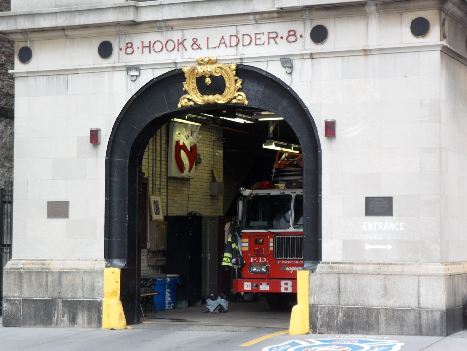 GHOSTBUSTERS! FDNY HOOK & LADDER 8 ON NORTH MOORE STREET