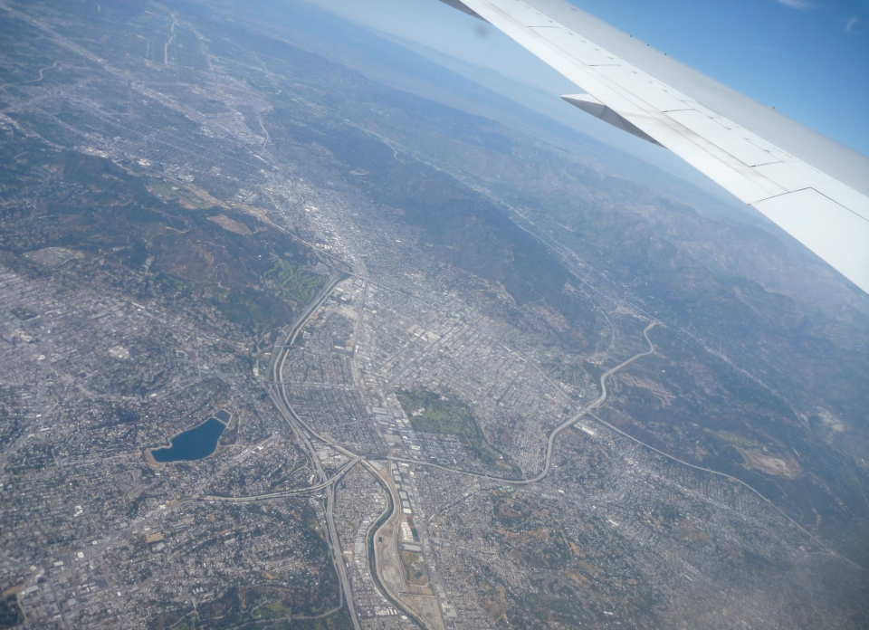 FLYING OVER LOS ANGELES