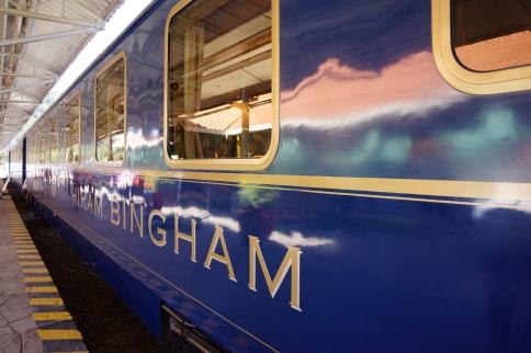HIRAM BINGHAM AT POROY STATION