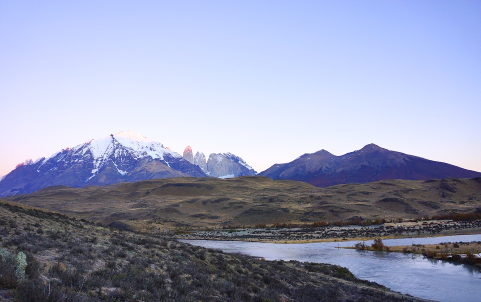 VERY EARLY MORNING IN TORRES DEL PAINE