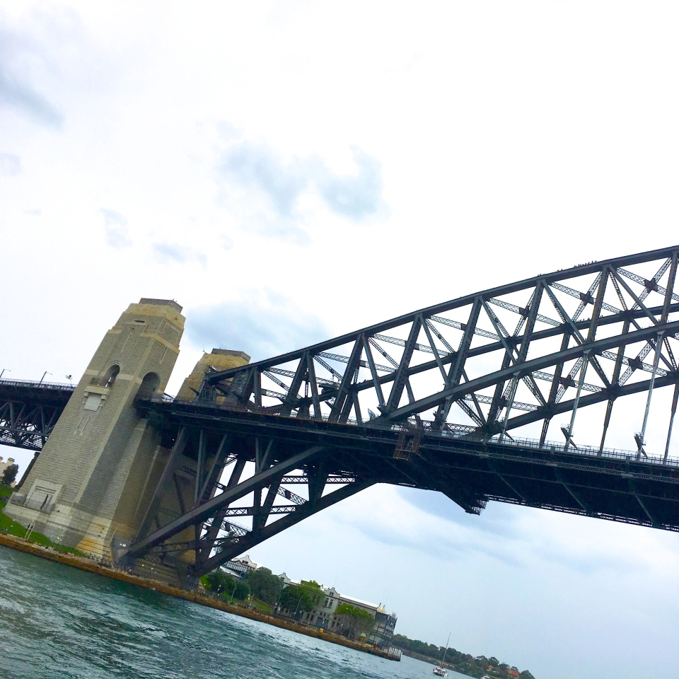 CRUISING UNDER SYDNEY HARBOUR BRIDGE